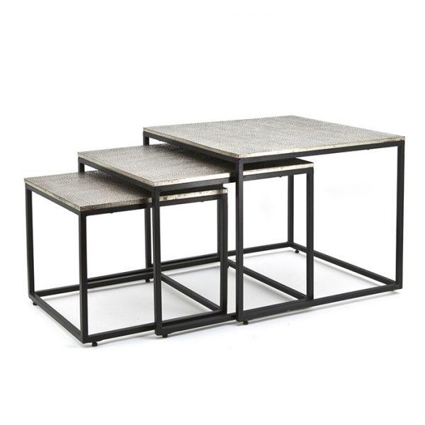 Set de trois tables carrées Trapeze
