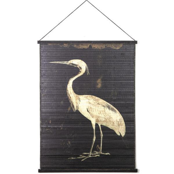 Tableau mural oiseau Miyagi