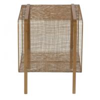 Table d'appoint Joya cube - Laiton