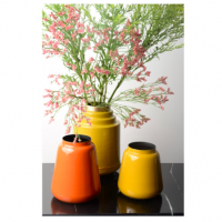 Vase en fer émaillé Olia - Jaune