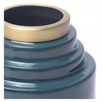 Vase en fer émaillé Olia - Bleu de Cobalt