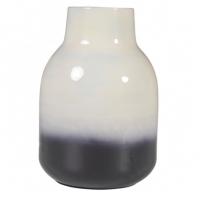 Vase bicolore Haley - Blanc et Noir