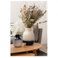 Vase bicolore Haley - Noir et Blanc