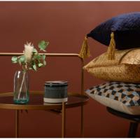 Table d'appoint Joya - Métal Doré/Verre Fumé