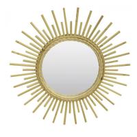 Miroir en rotin Sun