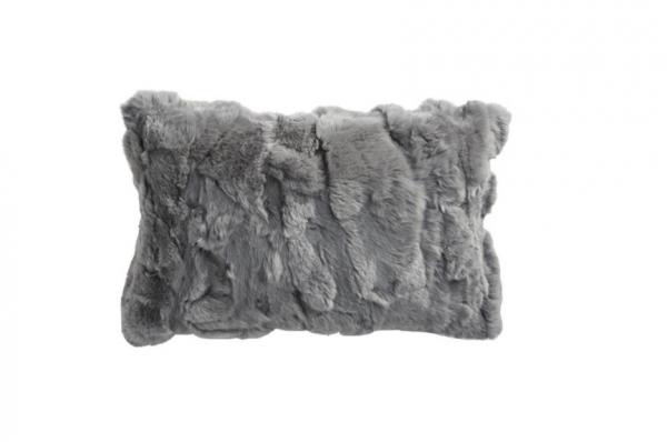 Coussin en peau de lapin - 30x45cm