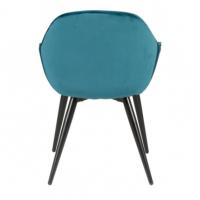 Chaise avec accoudoirs Bari - Bleu