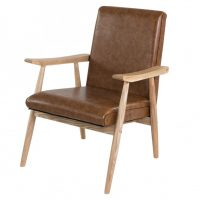 Fauteuil Alfred - Marron